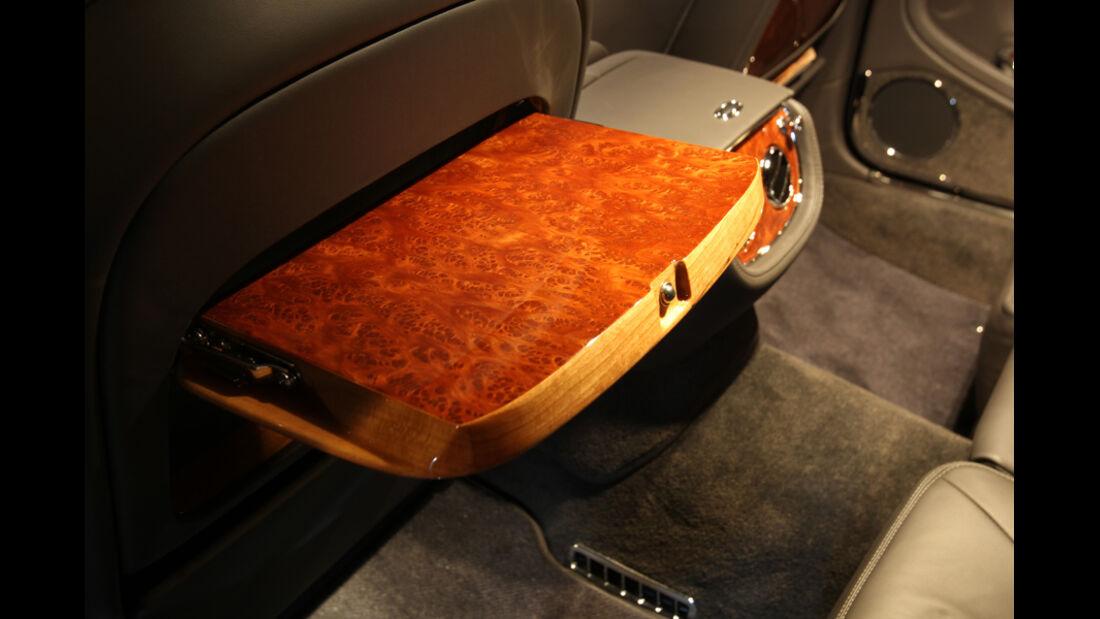 Bentley Mulsanne, Detail, Abstelltisch, Massivholz