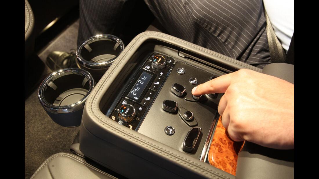 Bentley Mulsanne, Detail, Mittelkonsole, Technik