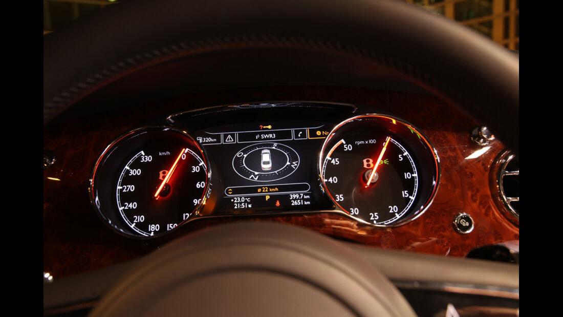 Bentley Mulsanne, Detail, Tacho, Instrumente