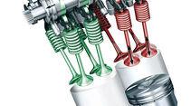 Bentley V8-Motor, Null-Nocken, Ventilöffnungnocken
