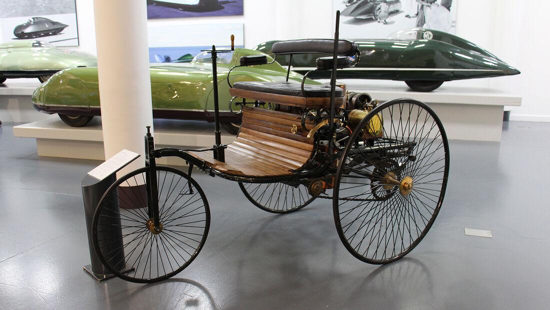 Benz Motorwagen Replika im British Motor Museum