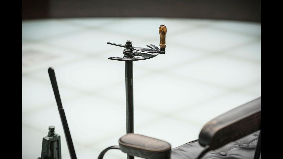 Benz Patent-Motorwagen - Mercedes-Museum - Lenkung