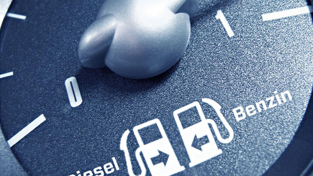 Benzinanzeige, Diesel, Benzin