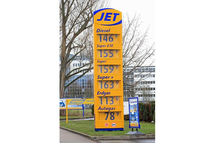 Benzinpreise, Tankstelle