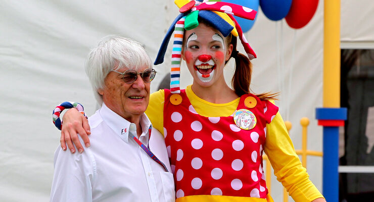 Bernie Ecclestone & Clown GP Bahrain 2012