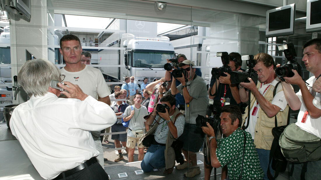 Bernie Ecclestone - David Coulthard - GP Ungarn 2003