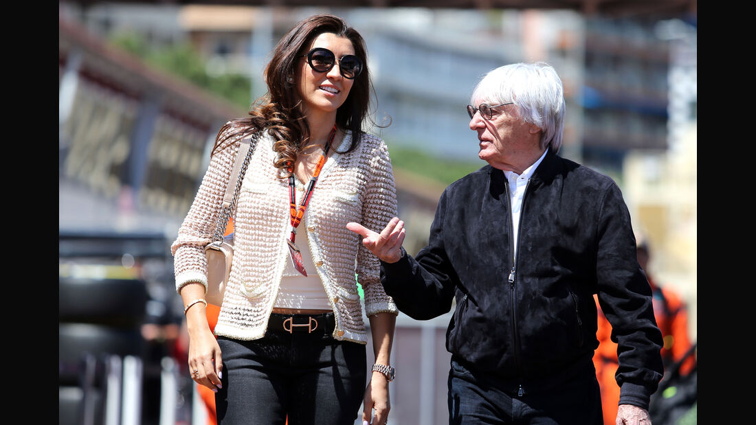 Bernie Ecclestone - Fabiana Flosi - Formel 1 - GP Monaco - Freitag - 22. Mai 2015