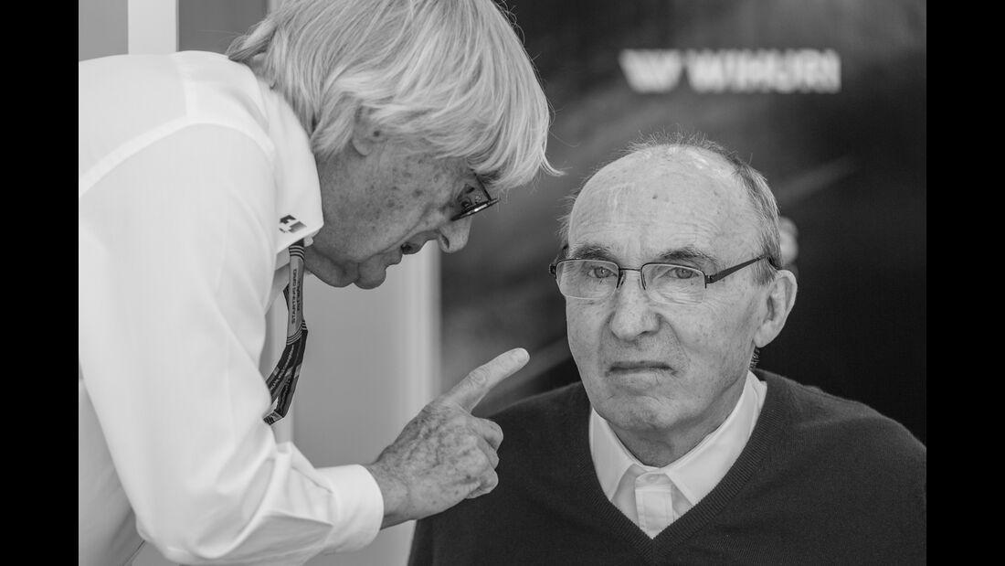 Bernie Ecclestone & Frank Williams - Danis Bilderkiste - Formel 1 - GP Bahrain 2015