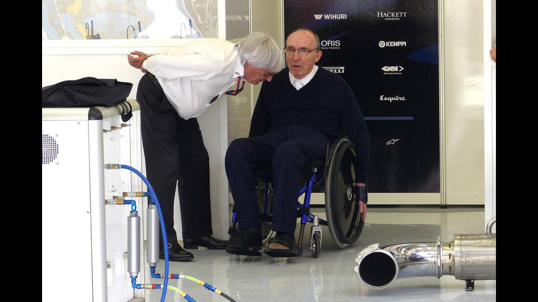 Bernie Ecclestone & Frank Williams - Formel 1 - GP Bahrain - 18. April 2015