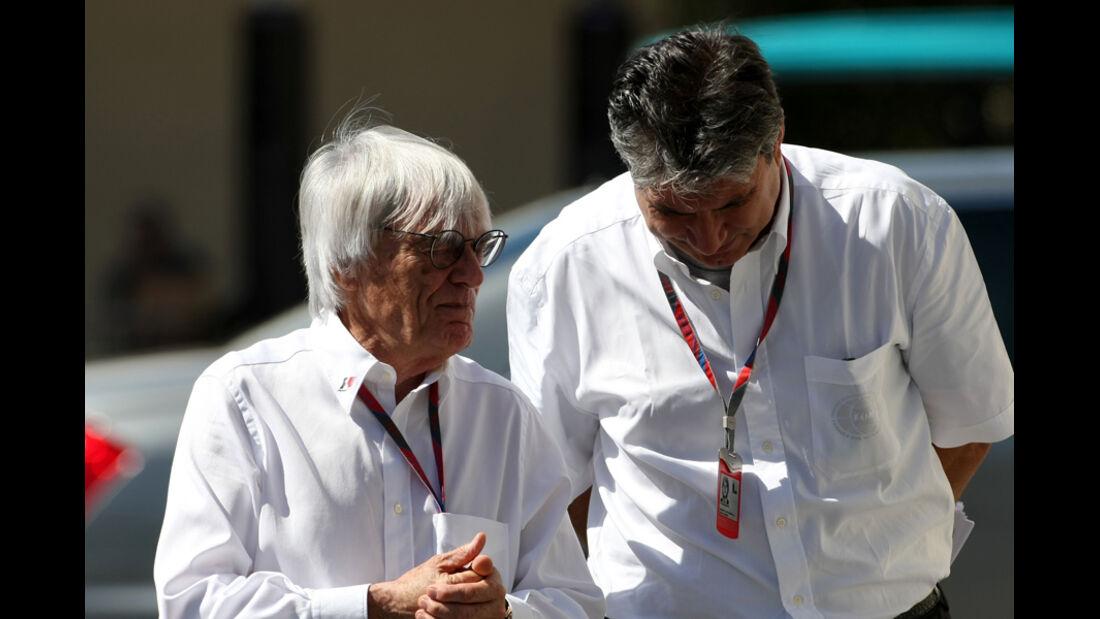 Bernie Ecclestone - GP Abu Dhabi - Freies Training - 11. November 2011
