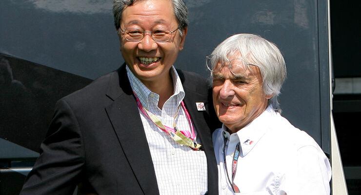 Bernie Ecclestone & Hiroshi Oshima
