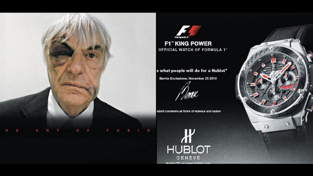 Bernie Ecclestone - Hublot-Werbung - Überfall - 2010