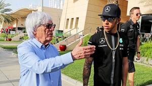 Bernie Ecclestone & Lewis Hamilton - Formel 1 - GP Bahrain - 16. April 2015