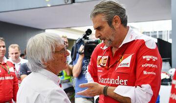 Bernie Ecclestone - Maurizio Arrivabene (Ferrari) - Formel 1 2016