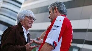 Bernie Ecclestone - Maurizio Arrivabene - GP Russland - Sochi - Donnerstag - 8.10.2015