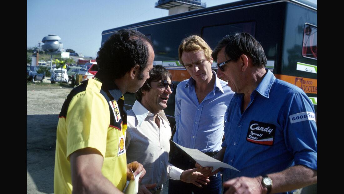 Bernie Ecclestone - Max Mosley - Ken Tyrrell - GP Spanien 1980 - Jarama