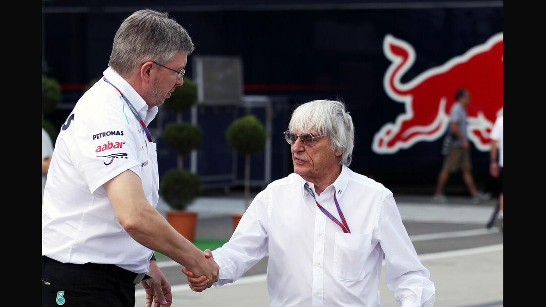 Bernie Ecclestone & Ross Brawn - Formel 1 - GP Ungarn - Budapest - 27. Juli 2012
