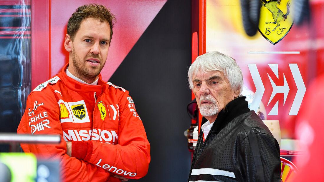 Bernie Ecclestone & Sebastian Vettel - Formel 1 - GP Brasilien - Sao Paulo - 16. November 2019