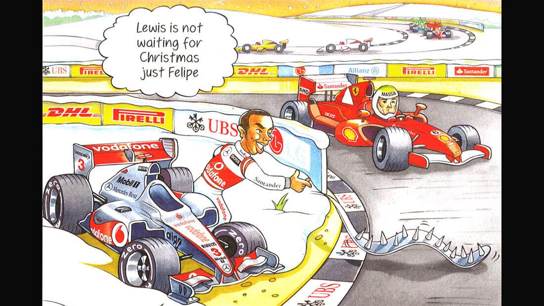 Bernie Ecclestone Weihnachtskarte 2011