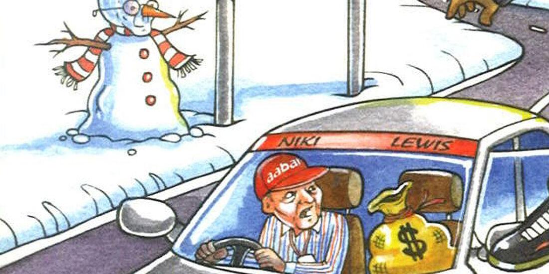 Bernie Ecclestone Weihnachtskarte 2012
