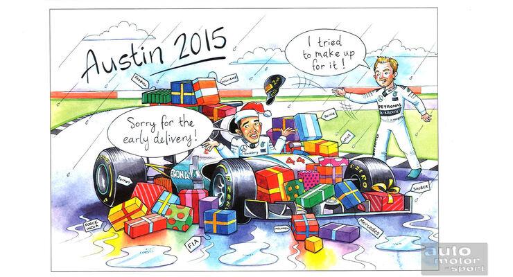 Bernie Ecclestone - Weihnachtskarte 2015