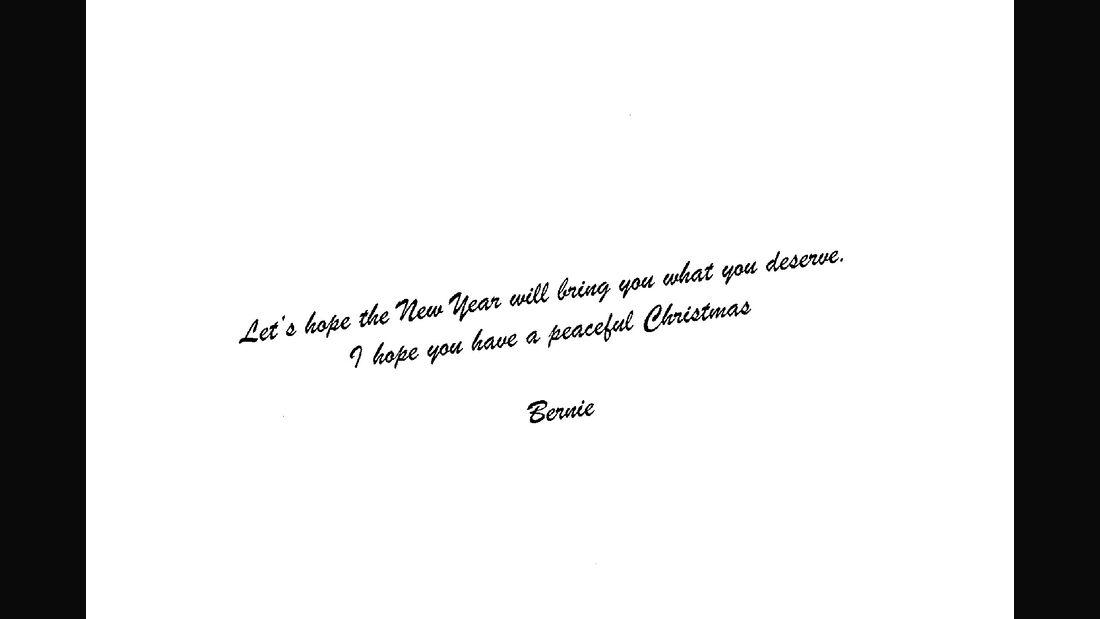 Bernie Ecclestone Weihnachtskarte 2018