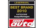 Best Brand 2010 Auspuffanlagen Logo