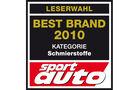 Best Brand 2010 Schmierstoffe Logo