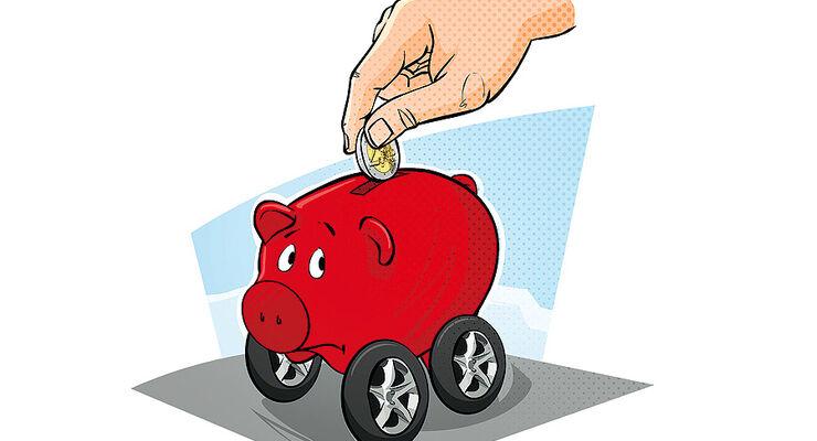 Betriebskosten, Sparschwein, Geld
