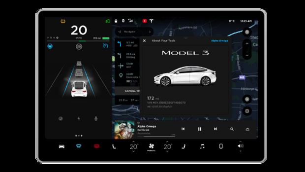 Betriebssysteme im Auto Tesla