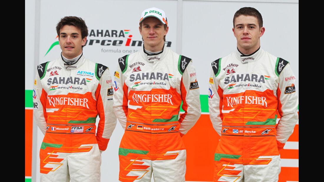 Bianchi, Hülkenberg & Di Resta - Force India 2012