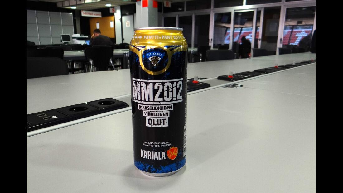 Bierdose GP Spanien Finnland 2012