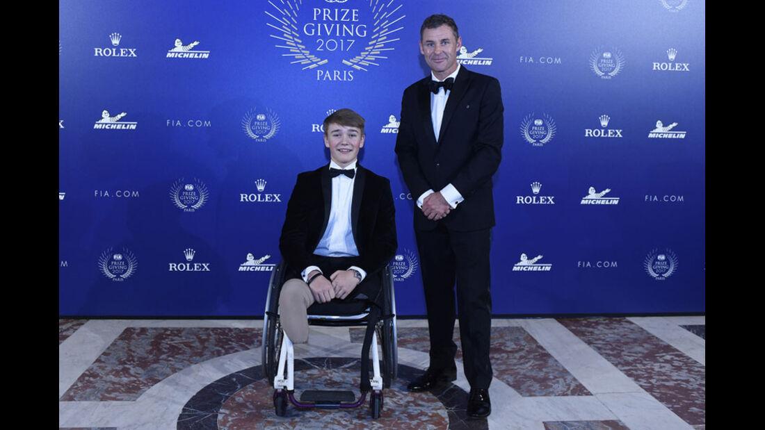 Billy Monger - Tom Kristensen - FIA Preisverleihung - Versailles