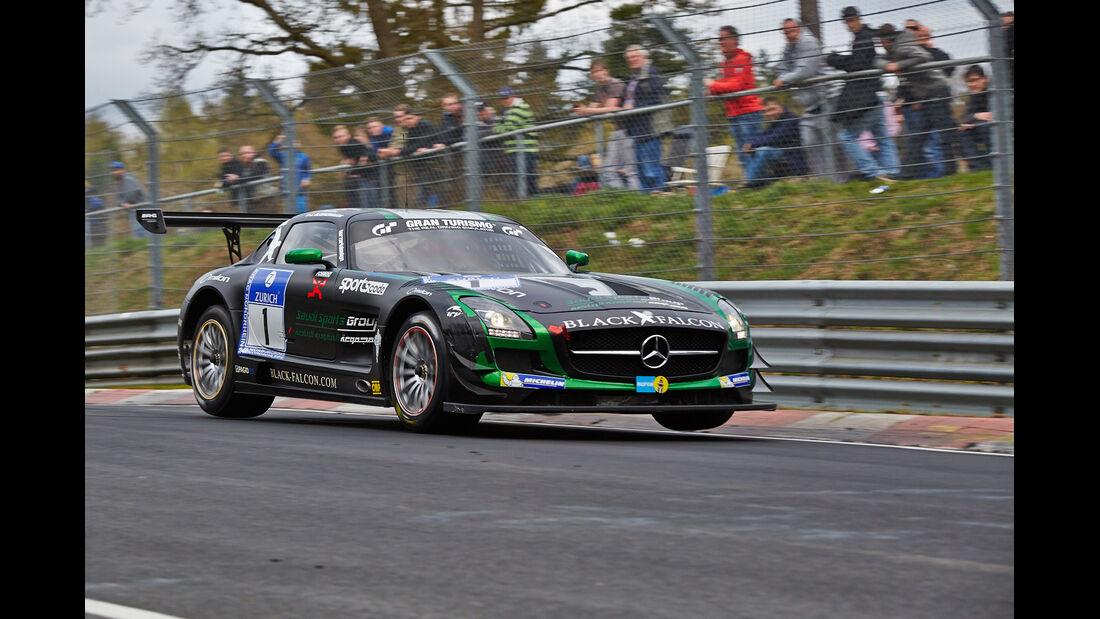 Black Falcon #1 Mercedes SLS - 24h Qualirennen - Nürburgring Nordschleife - 06. April 2014