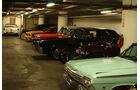 Blick in die Tiefgarage im Keller des Petersen Automotive Museums, Los Angeles