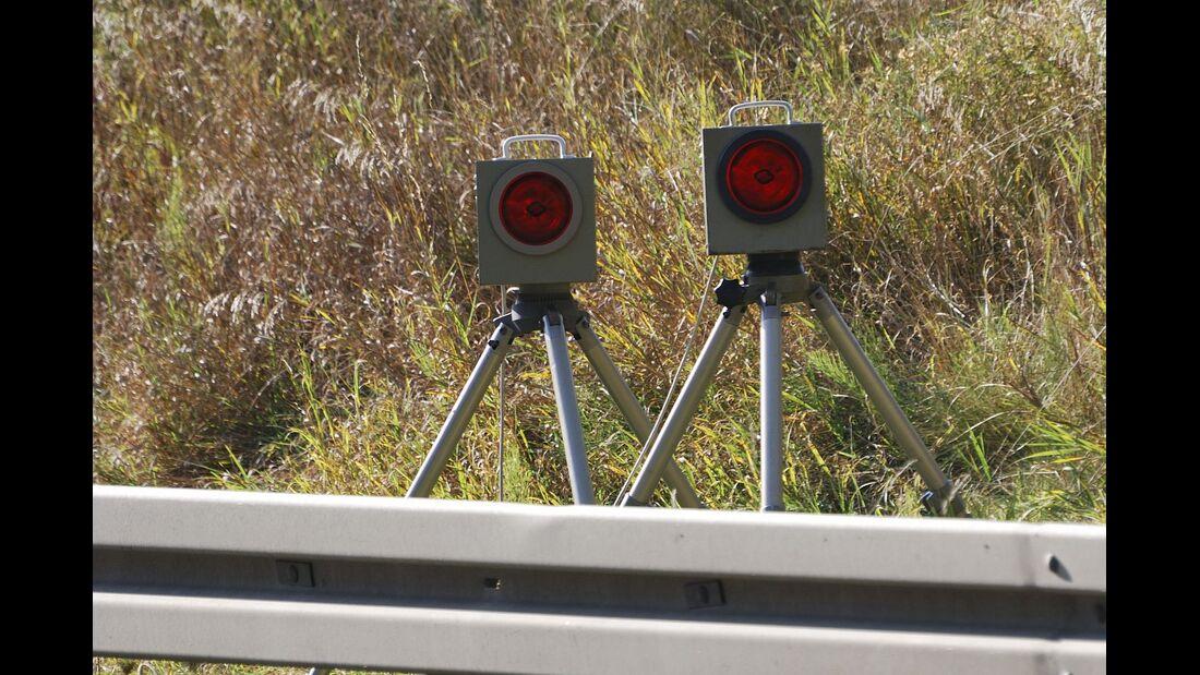 Blitzer zur Messung von Geschwindigkeitsübertretungen.