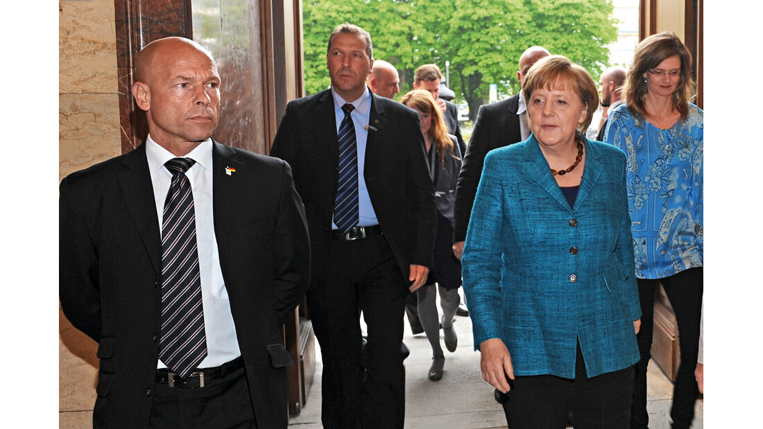 Bodyguard, Michael Kuhr, Angela Merkel