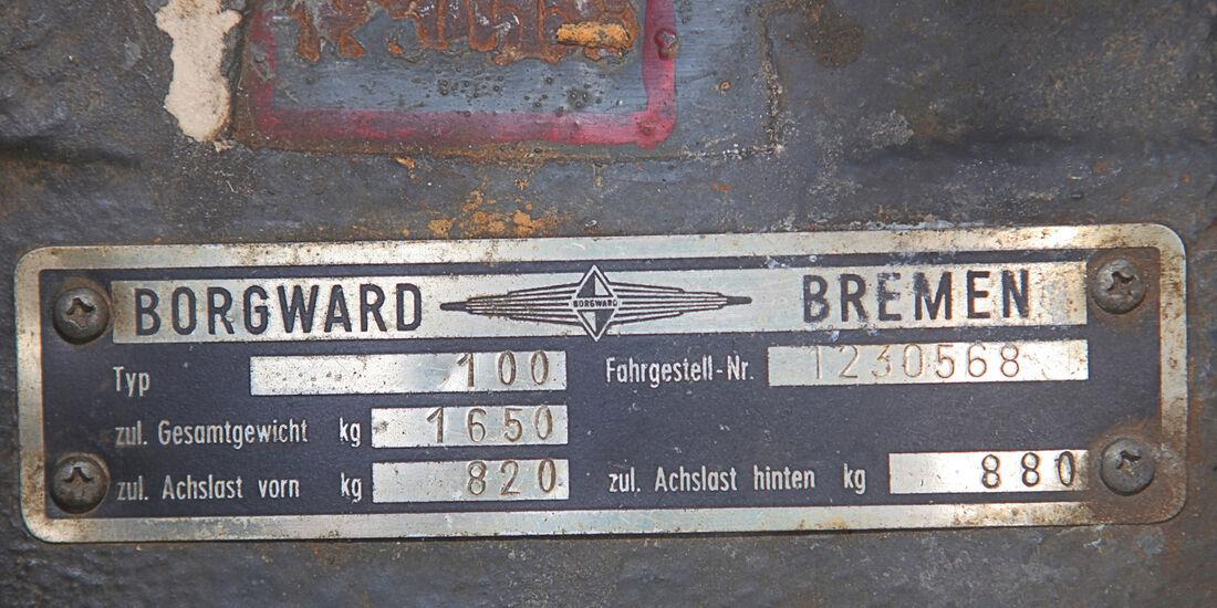 Borgward 2,3 Liter, Fahrgestellsnummer