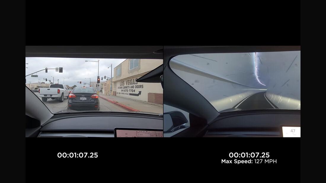 Boring Company Vergleichsvideo Tesla