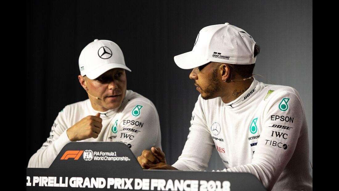 Bottas & Hamilton - Formel 1 - GP Frankreich - Circuit Paul Ricard - Le Castellet - 23. Juni 2018