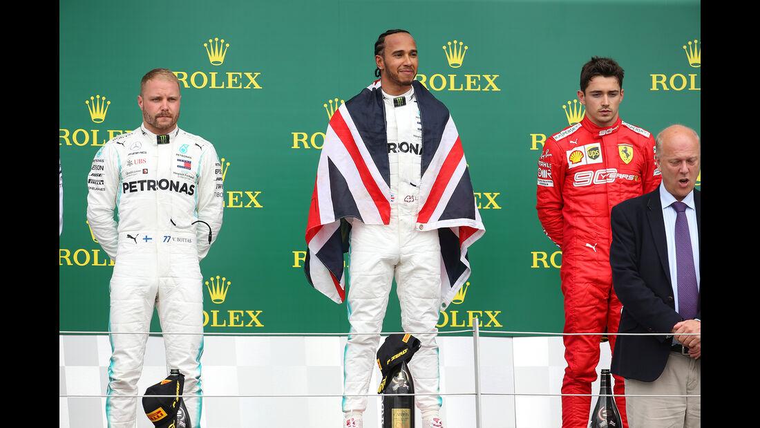 Bottas - Hamilton - Leclerc - GP England 2019 - Silverstone - Rennen