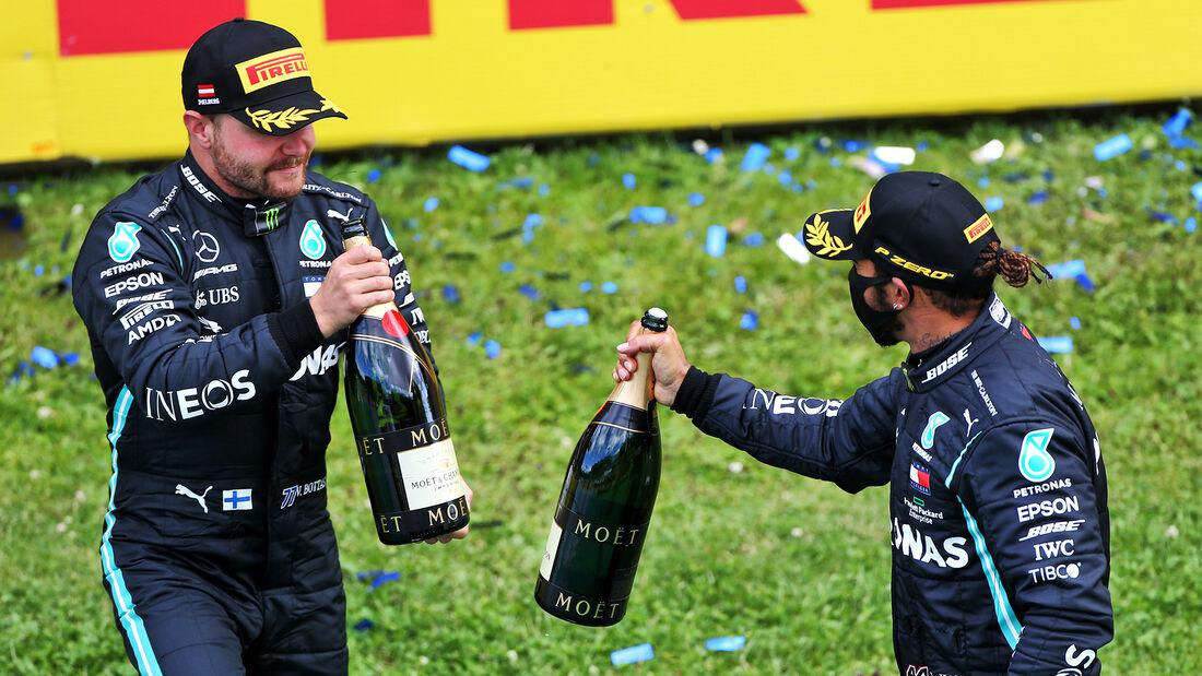 Bottas - Hamilton - Mercedes - Formel 1 - GP Steiermark 2020 - Spielberg - Rennen
