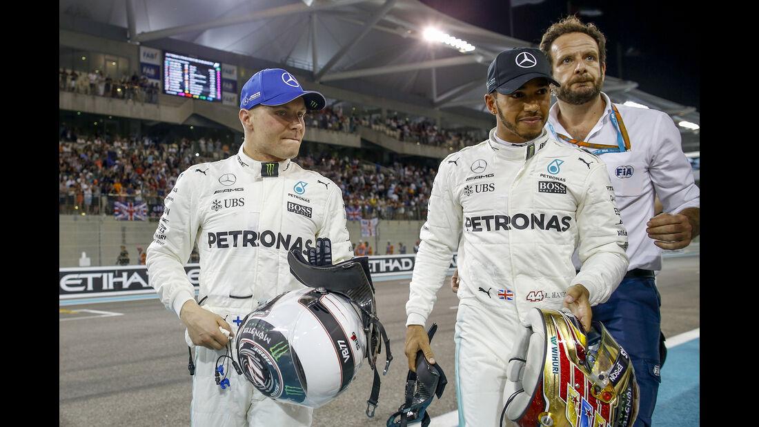Bottas & Hamilton - Mercedes - GP Abu Dhabi - 25. November 2017