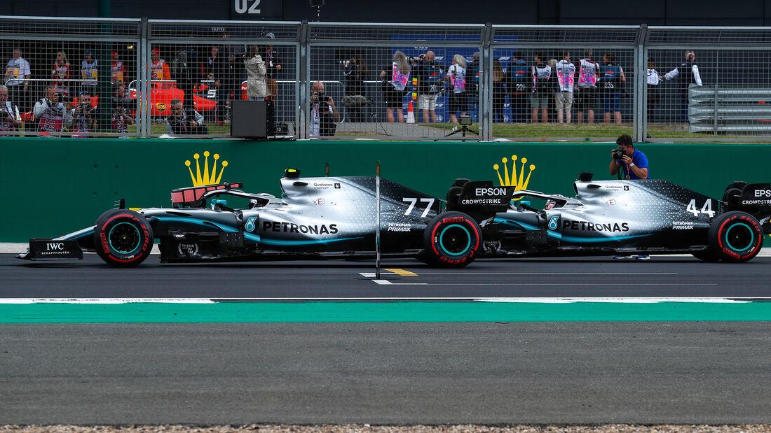 Bottas - Hamilton - Mercedes - GP England - Silverstone - Samstag - 13.7.2019