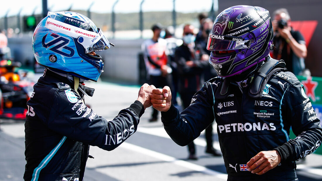 Bottas & Hamilton - Mercedes - GP Portugal - Portimao - 1. Mai 2021