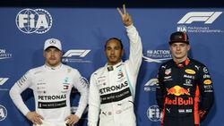 Bottas - Hamilton - Verstappen - GP Abu Dhabi - Formel 1 - Samtag - 30.11.2019