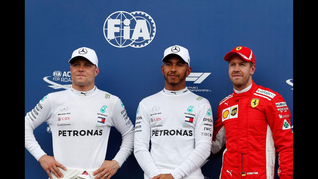Bottas, Hamilton & Vettel - Formel 1 - GP Frankreich - Circuit Paul Ricard - Le Castellet - 23. Juni 2018