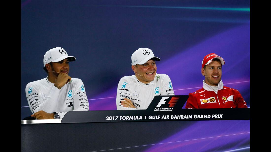 Bottas - Hamilton - Vettel - GP Bahrain 2017 - Qualifying