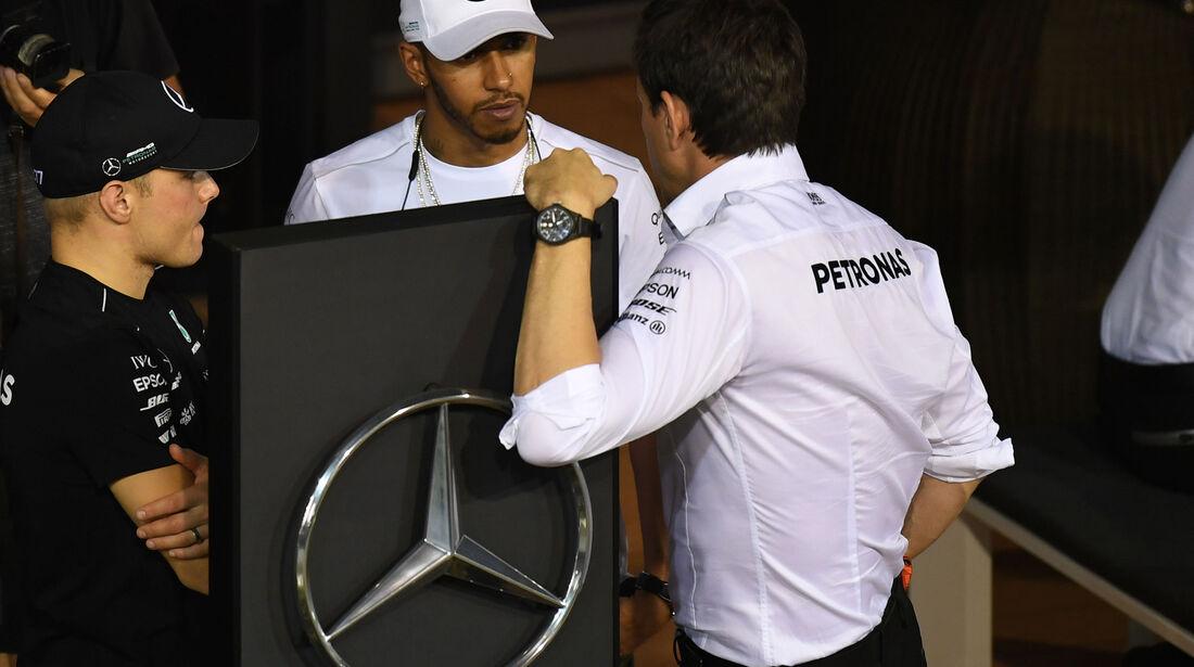 Bottas - Hamilton - Wolff - GP Singapur - Qualifying