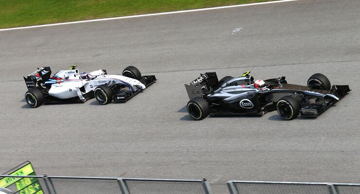Bottas & Magnussen - GP Malaysia 2014